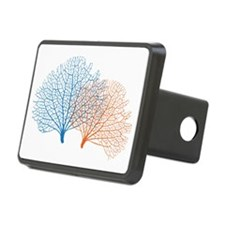 blue and red sea fan coral Hitch Cover