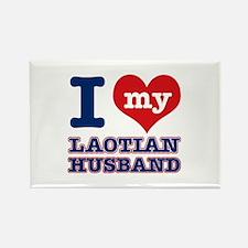 I love my Laotian husband Rectangle Magnet