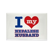 I love my Nepalese husband Rectangle Magnet