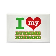 I love my Burmese husband Rectangle Magnet
