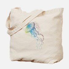 colorful jellyfish silhouette Tote Bag
