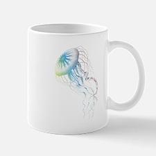 colorful jellyfish silhouette Mug
