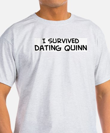 Survived Dating Quinn Ash Grey T-Shirt