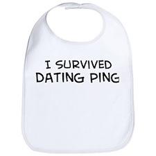 Survived Dating Ping Bib