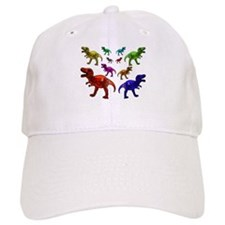 Colored Dinosaurs Baseball Baseball Cap
