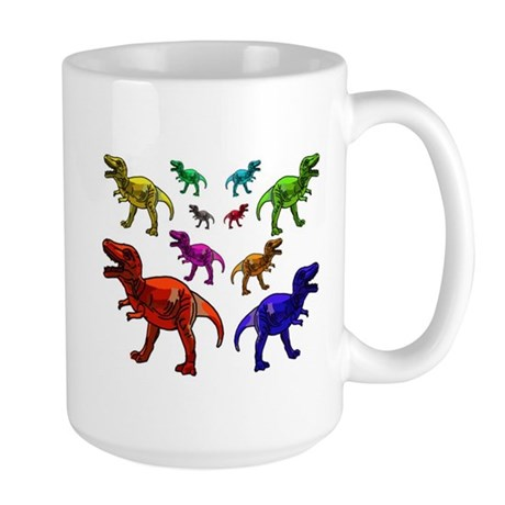 Colored Dinosaurs Mug