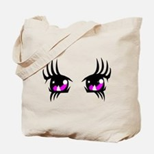 Pink Anime eyes Tote Bag