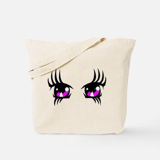 Pink Anime eyes Tote Bag