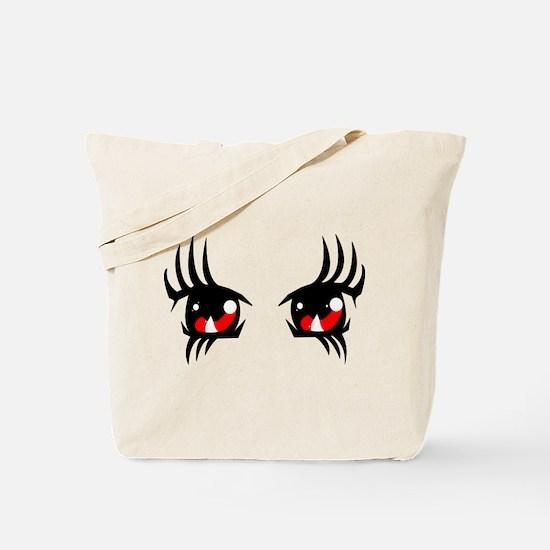 Red anime eyes Tote Bag