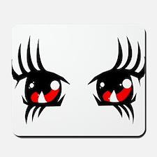 Red anime eyes Mousepad