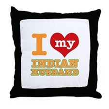 I love my Indian husband Throw Pillow