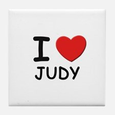 I love Judy Tile Coaster