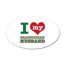 I love my Palestinian husband 20x12 Oval Wall Deca