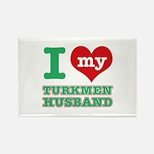 I love my Turkmen husband Rectangle Magnet