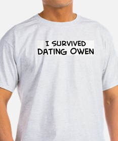 Survived Dating Owen Ash Grey T-Shirt