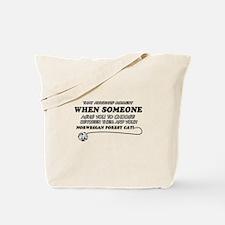 Norwegian Forest Cat designs Tote Bag