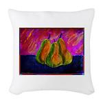Three Pears Woven Throw Pillow