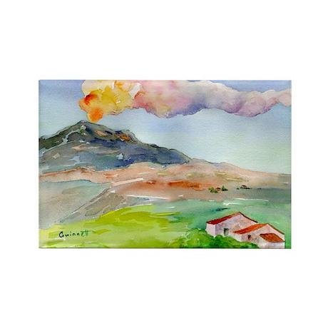 Mt Etna Sicily Rectangle Magnet (10 pack)