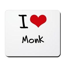 I Love Monk Mousepad