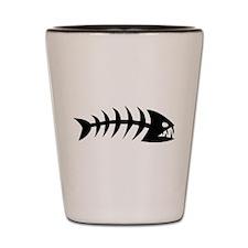 Scary fish Shot Glass