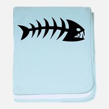 Scary fish baby blanket