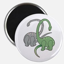 Two Dinosaurs Magnet