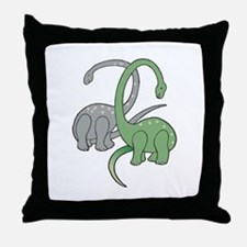 Two Dinosaurs Throw Pillow