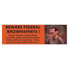 Federal Brownshirts Bumper Bumper Sticker