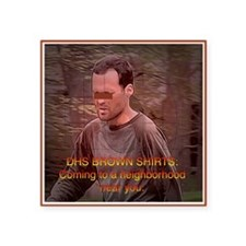 """Federal Brownshirts Square Sticker 3"""" x 3"""""""