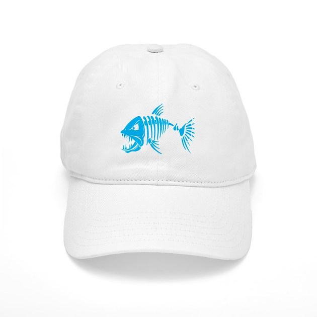 Pirate fish baseball hat by mak2 for White cap fish