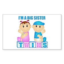 I'm A Big Sister (PBG:blk) Rectangle Decal