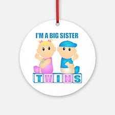 I'm A Big Sister (BBG:blk) Ornament (Round)