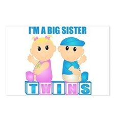 I'm A Big Sister (BBG:blk) Postcards (Package of 8