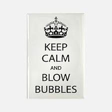 Keep Calm Blow Bubbles Rectangle Magnet