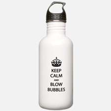 Keep Calm Blow Bubbles Water Bottle