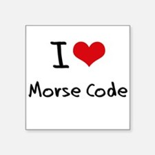 I Love Morse Code Sticker