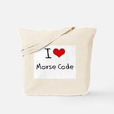 I Love Morse Code Tote Bag