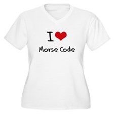 I Love Morse Code Plus Size T-Shirt