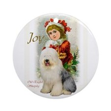 Old English Sheepdog Ornament (Round)