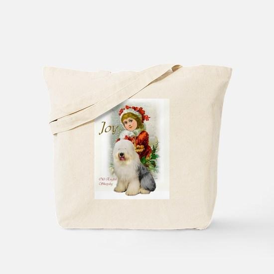 Old English Sheepdog Christmas Tote Bag