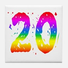 Confetti Rainbow 20 Tile Coaster