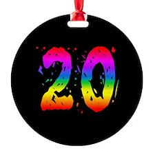Confetti Rainbow 20 Ornament