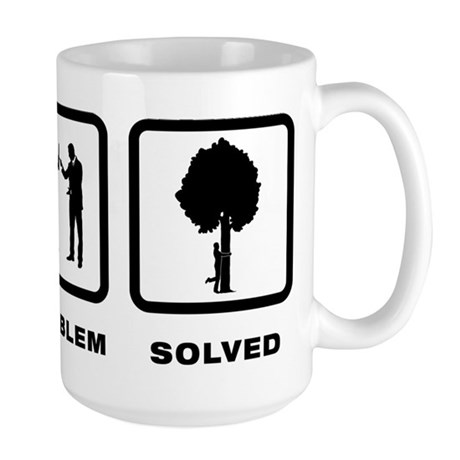 Tree Hugging Large Mug
