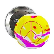 """Psychedelic Peace 2.25"""" Button"""