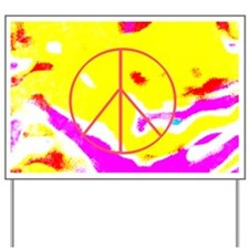 Psychedelic Peace Yard Sign