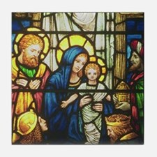 Adoration of Magi by Powell Tile Coaster