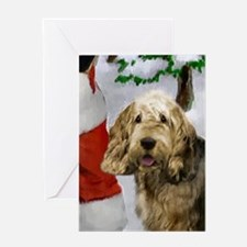 Otterhound Christmas Greeting Card