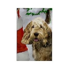 Otterhound Christmas Rectangle Magnet (10 pack)