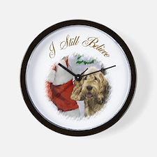 Otterhound Christmas Wall Clock