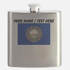 Custom New Hampshire State Flag Flask